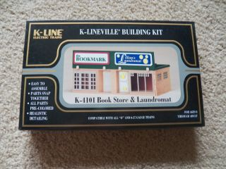 line K Lineville K 4101 Book Store & Laundromat Building Kit O & O27
