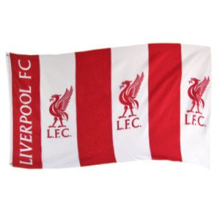 LARGE LIVERPOOL FC OFFICIAL CLUB TEAM FLAG FOOTBALL SOCCER ANFIELD