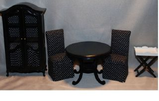 Miniature French Living Dining Room Furniture Set Table Chair