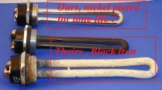 12 Volt 300 Watt DC Low Voltage Submersible Water Heating Element Wind