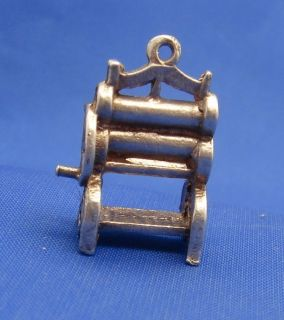 Vintage English Sterling Silver Clothes Laundry Wringer Wash Tub Charm