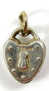 Sterling Silver Small Antique Vintage Heart Locket Charm Pendant