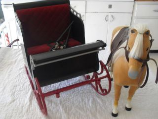 American Girl Holiday Sleigh with Horse and EXTRAS Retired