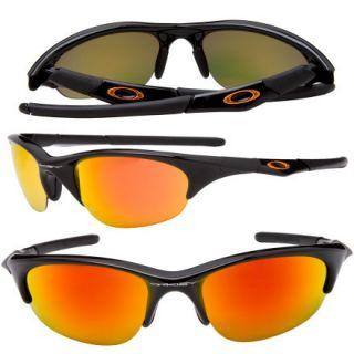Oakley Half Jacket Fire Iridium Sunglasses w/ Case & Cleaning Cloth 03