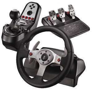 Logitech G25 Racing Wheel for PC PS2 PS3 Mac