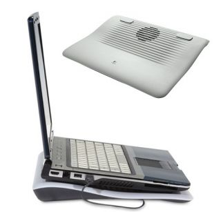Logitech N120 Laptop Netbook Cooling Pad Up to 15 6 USB Powered Silent
