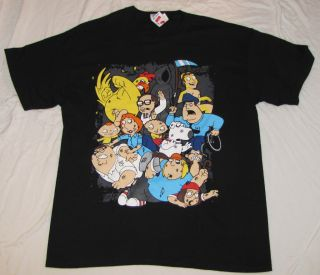 GUY MENS GRAPHIC T SHIRT XL STEWIE LOIS GRIFFIN PETER BRIAN CHRIS MEG