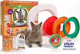 Litter Kwitter Cat Toilet Training System Includes Flushable Litter