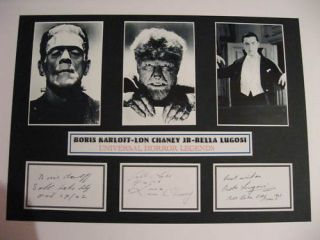 458 Boris Karloff Lon Chaney Jr Bella Lugosi A3 Mount