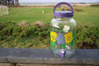 Corelle Summer Blush One Gallon Glass Beverage Dispenser New