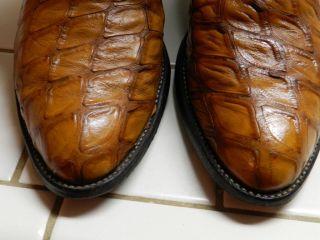 Vtg Tony Lama El Rey Exotic Anteater Western Cowboy Boots High End $$