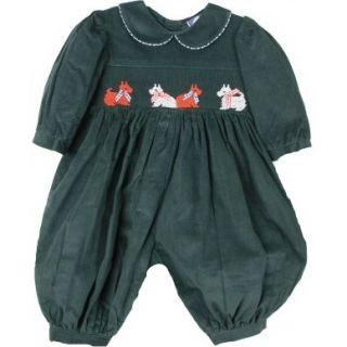 Gorgeous Green Smocked w Scotties Carriage Boutique Baby Girl Bubble