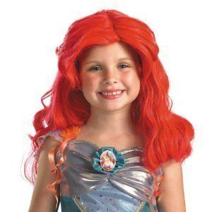 Ariel costume wig hair piece KIDS NEW little mermaid disney red girls