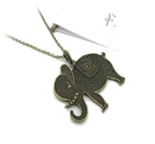 Elephant Pendant Long Chain Necklace Fashion Women Necklaces