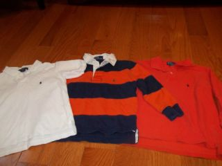 BOYS 5/6 POLO BY RALPH LAUREN SHORT/ LONG SLEEVE POLO /RUGBY SHIRTS