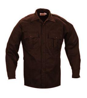 Elbeco TekTwill Duty Uniforms Long Sleeve Shirts Brown