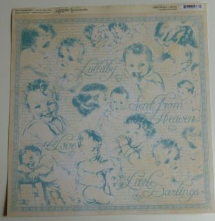 Graphic 45 Little Darlings Lullaby 12 x 12 Scrapbook Paper 4 Sheets