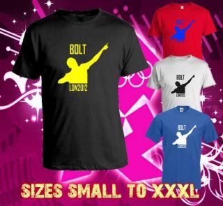 Usain Bolt Jamaican London 2012 Olympics T Shirt Worlds Fastest Man