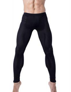 Sexy Thermal Underwear Pants Long John Mesh Black 4020 Large L