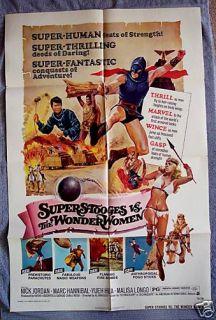 Super Stooges vs Wonder Woman Poster Malisa Longo 1974