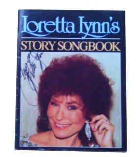 Vintage 1987 Loretta Lynn Autographed Songbook Lyrics