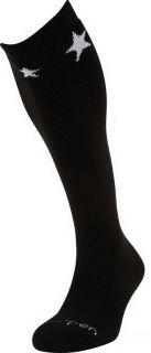 LORPEN Ski Over Calf Merino Wool Socks Black White Star Size s XL S2WL