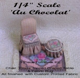 ¼ Scale AU Chocolat Table Chair Kit Lori Ann Potts