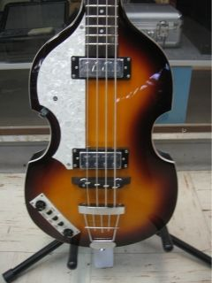Hofner Ignition Beatle Bass Sunburst Left Hand w Case
