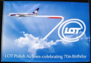 Polish Airlines Lot Air Travel Poster