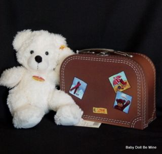 New Steiff Lotte in Suitcase 8 inch Plush Bear with All Tags