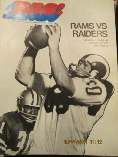 Vintage Los Angeles Rams Gameday Program Collection