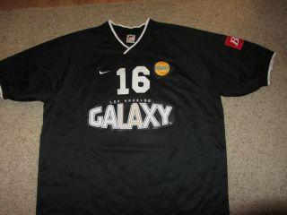 Authentic Los Angeles Galaxy Budweiser MLS Soccer Nike Jersey XL Black
