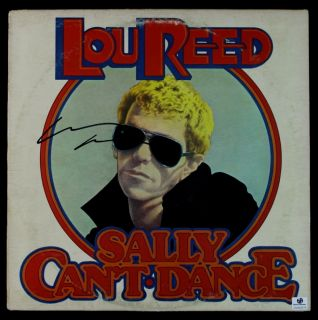 Lou Reed Signed LP Record Cover Sally Cant Dance GAI