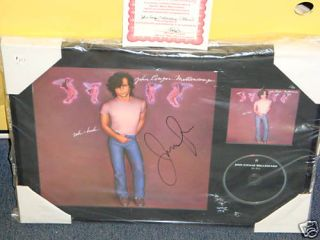 John Cougar Mellencamp CD LP Signed Autographed Framed