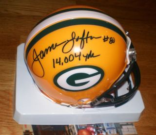 Packers James Lofton Signed Mini Helmet w 14 004 Yds