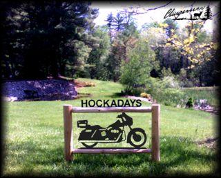 Pesrsonalized Harley Ultra Classic Log Motorcycle Sign