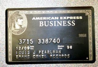 Louis J Pearlman American Express Black Titanium Centurion Card