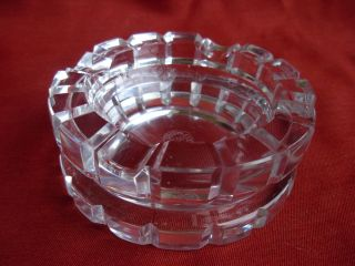 Art Deco St Louis Cut Crystal Ashtray Signed St Louis Jean Sala