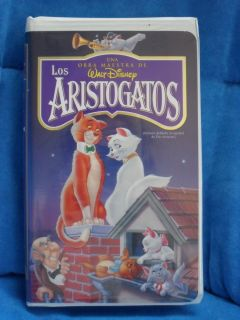 New Spanish Video Walt Disney Los Aristogatos VHS 786936008395