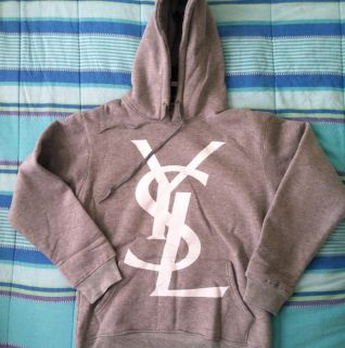 Yves Saint Laurent Logo Hooded Sweat Shirt Hoodie Supreme Louis