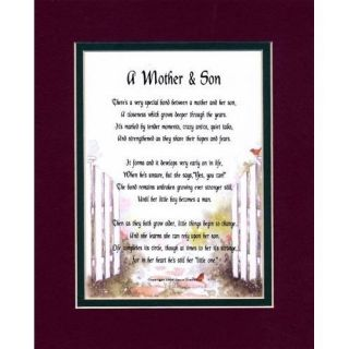 Mother Son Mother to Son Mother Poem Mom Poems Gifts for Mothers