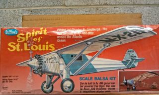 Guillows 807 Spirit of St Louis Balsa Wood Model Kit