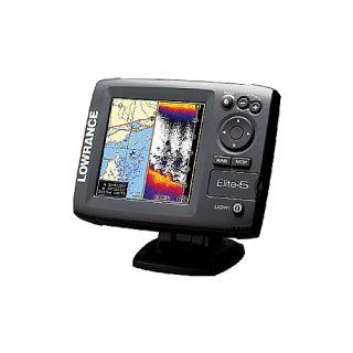 Lowrance Elite 5 Gold Marine GPS Fish Finder Combo Unit With Navionics