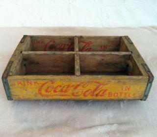 Coca Cola / Coke Wood Bottle Holder Carrier 18x12x4 Longview, TX