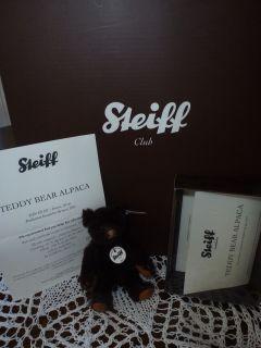 Steiff Club Members Loyalty Gift A Brown Alpaca Teddy Bear Year 2011