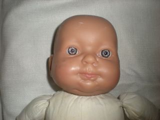 Berenguer Doll Pouty Blue Eyes Look Real Baby 16 Puckered Cloth Body