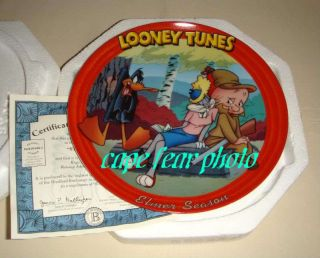 Looney Tunes Bugs Bunny Daffy Duck Elmer Season Plate
