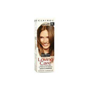 Clairol Loving Care Hair Color Crème Lotion 76 Light Golden Brown