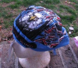Headwraps Doo Du rags Biker Welder Skull bandana cap Blue eagle in