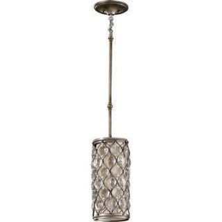Murray Feiss P1258BUS Lucia 1 Light Mini Pendant in Burnished Silver